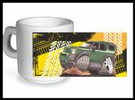 Koolart TYRE TRAX 4x4 Design For New Land Rover Discovery 3 & 4 - Ceramic Tea Or Coffee Mug